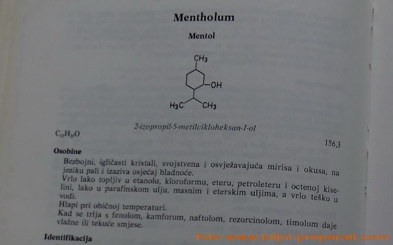 Mentol etanolni rastvor 2% (Mentholi solutio ethanolica 2%)