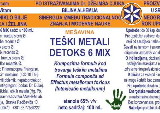 teski metali detoks 6 mix