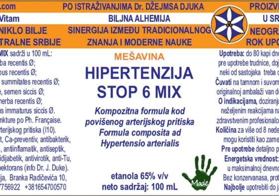 HIPERTENZIJA STOP 6 MIX