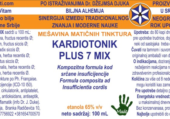 KARDIOTONIK PLUS 7 MIX