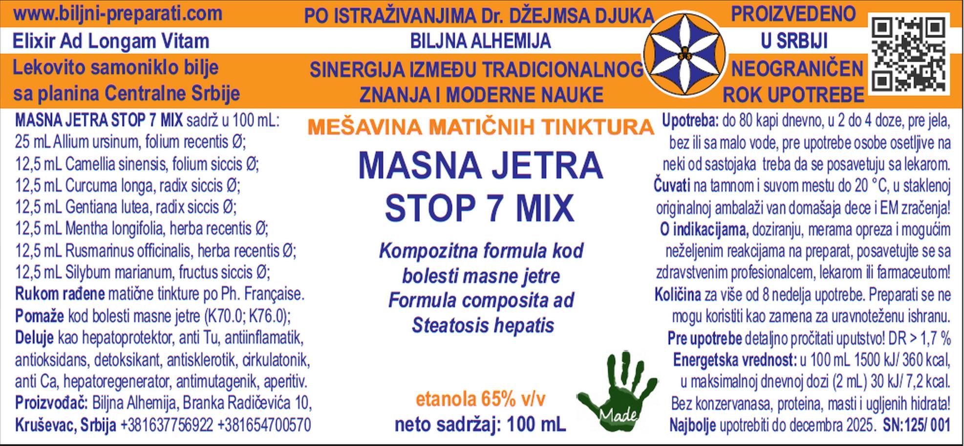 MASNA JETRA STOP 7 MIX 100